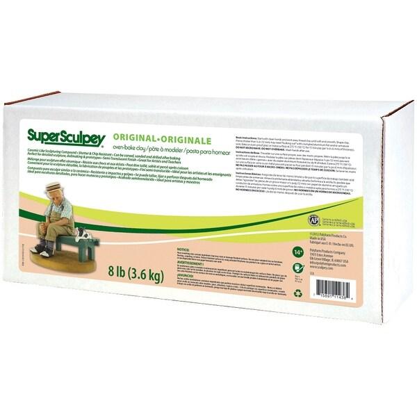 Super Sculpey Clay 8 Lbs-Beige