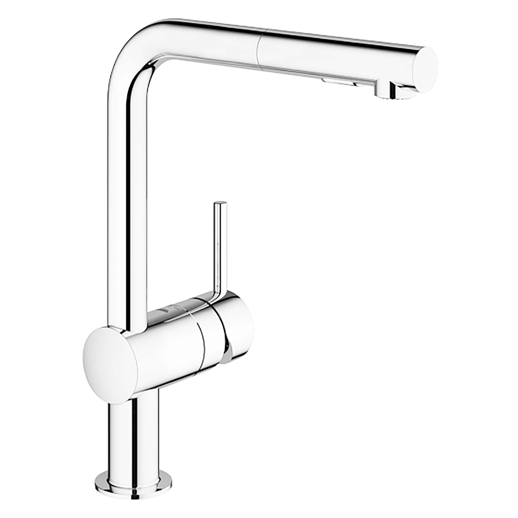 Shop Grohe 30 300 Minta Pull Out Spray Kitchen Faucet Overstock 17224768