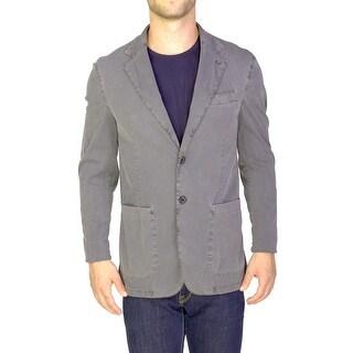 Prada Men's Lightweight Cotton Two-Button Sportscoat Grey - 38