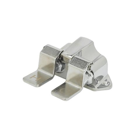 """T and S Brass B-0502 Double Pedal Valve with 1/2"""" NPT Inlets and - Chrome"""