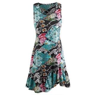 Women's Fans Of Peacock Dress - Tank Top Midi Summer Dress