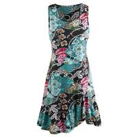 Women's Fans Of Peacock Dress - Tank Top Midi Summer Dress