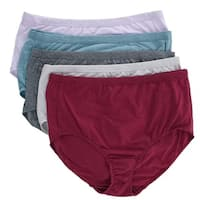 Fruit of the Loom Women's Plus Size Beyond Soft Briefs Underwear (5 Pair Pack)