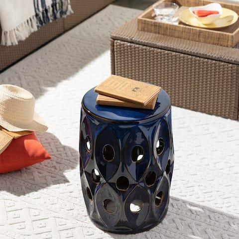 Marena Indoor/ Outdoor Ceramic 18-inch Garden Stool