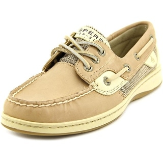 Sperry Top Sider Seabrook Wave Women Moc Toe Leather Tan Boat Shoe