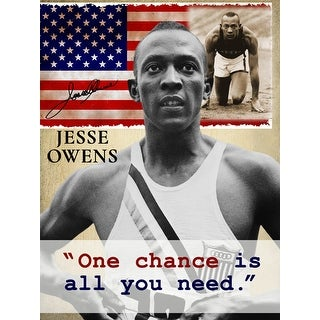 Jesse Owens Poster One Chance is All You Need Art Print (18x24)
