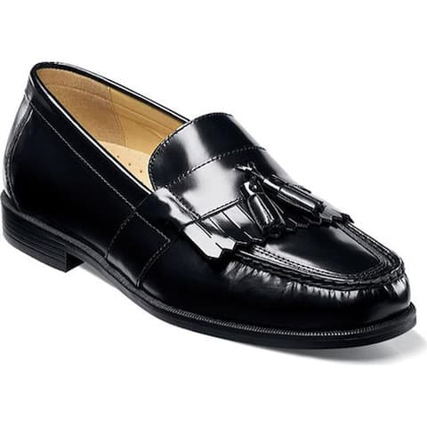 Nunn Bush Men's Keaton Moc Toe Kiltie Tasseled Slip On Black Leather
