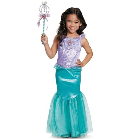 Disguise Ariel Deluxe Child Costume - Purple/Green