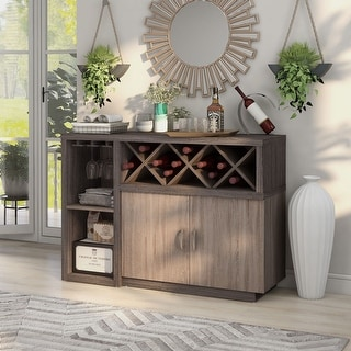 Link to Furniture of America Letty Contemporary Grey 6-shelf Dining Server Similar Items in Dining Room & Bar Furniture