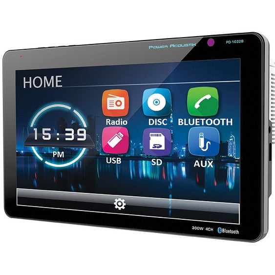 "Power Acoustik 10.3"" Double Din Receiver With Bluetooth & Detachable Faceplate"