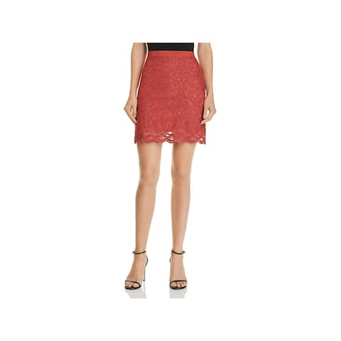 Band of Gypsies Womens Mini Skirt Lace Embroidered - S