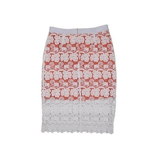 Rebecca Minkoff Womens Angelica Pencil Skirt Lace Knee-Length