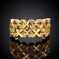 X Marks The Spot Gold Ring - Thumbnail 1