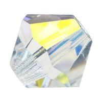 Preciosa Czech Crystal Beads 6mm Bicone 'Crystal AB' Clear (20)