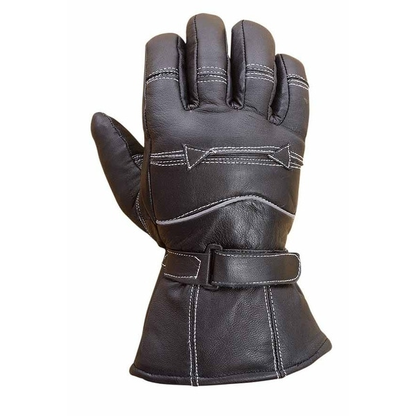 Premium Sheep Leather Winter Motorcycle Biker Riding Gloves Mens Black G8