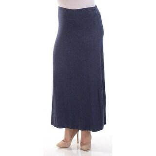 Womens Navy Maxi A-Line Skirt Size M