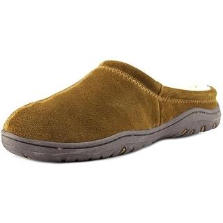 Rockport Indoor/Outdoor Slippers Men Round Toe Suede Brown Slipper