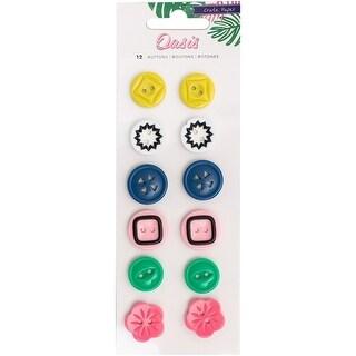 Oasis Plastic Buttons 12/Pkg-