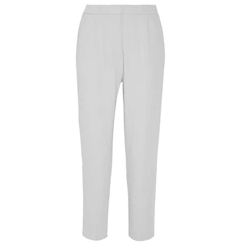 Maison Margiela Gray Crepe Cropped Pants Size 38