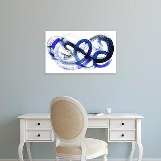 Easy Art Prints Grace Popp's 'Blue Kinesis II' Premium Canvas Art