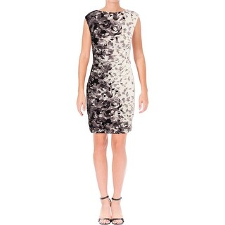 Lauren Ralph Lauren Womens Petites Party Dress Sleeveless Mini
