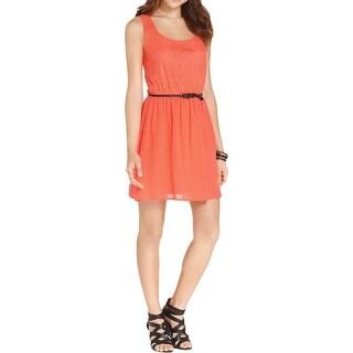 Trixxi Womens Juniors Casual Dress Lace Cut-Out
