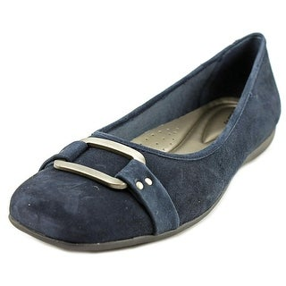 Trotters Sizzle Signature Women SS Round Toe Suede Blue Flats