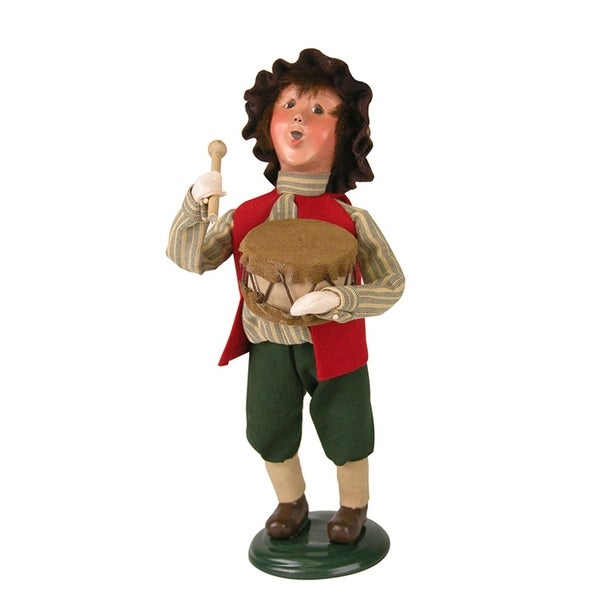 """9.75"""" Limited Edition Drummer Boy Caroler Christmas Table Top Decoration - RED"""