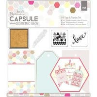 - Papermania Geometric Neon Gift Tags & Stamps Set 16/Pkg