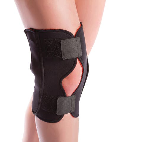 Orthozone Thermoskin Arthritis Hinged Knee Brace, Adjustable Wrap Around Knee Support - Black