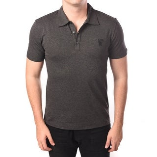 Versace Men Medusa Polo Shirt Grey
