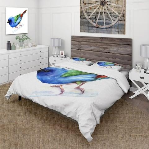 Designart 'Forbes Finch Bird' Traditional Duvet Cover Set