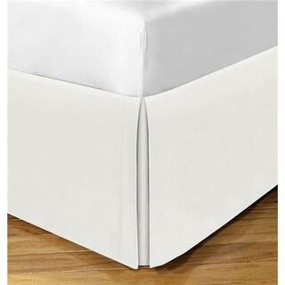 Levinsohn Basic Cotton Rich 200TC Tailored 14 in. Bed Skirt Ivory