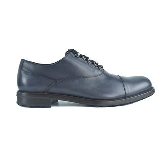 Tods Navy Leather Metal Rivet Lace Up Formal Derby Shoes
