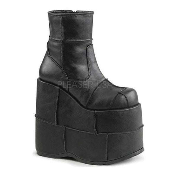 787ea638643 Shop Demonia Men s Stack 201 Ankle Boot Black Vegan Leather - Ships ...
