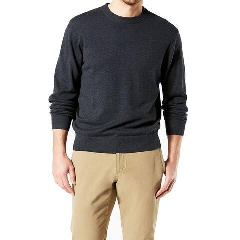 Dockers Mens Sweater Gunmetal Gray Size Medium M Crewneck Pullover