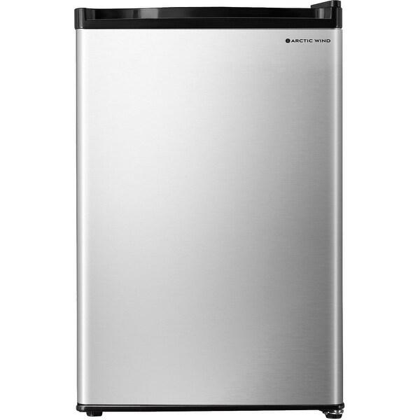 Arctic Wind 3.3-Cu. Ft. Single Door Compact Refrigerator, Silver. Opens flyout.
