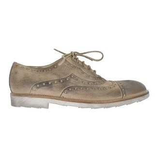 Dolce & Gabbana Dolce & Gabbana Beige Leather Wingtip Shoe - eu44-us11