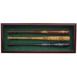 3 Baseball Bat Custom Display Case UV Glass