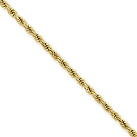 Stainless Steel IP Gold-plated 2.3mm 22in Rope Chain (2.3 mm) - 22 in