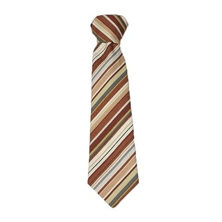 Little Things Mean A Lot New Little Boys Cotton Brown Stripe Tie Boy