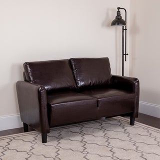 Living Room Loveseat w/ Extended Side Panels and Rounded Arms