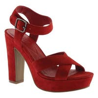 Kenneth Cole Reaction Women's I Can Change Platform Sandal Lipstick Red Suede