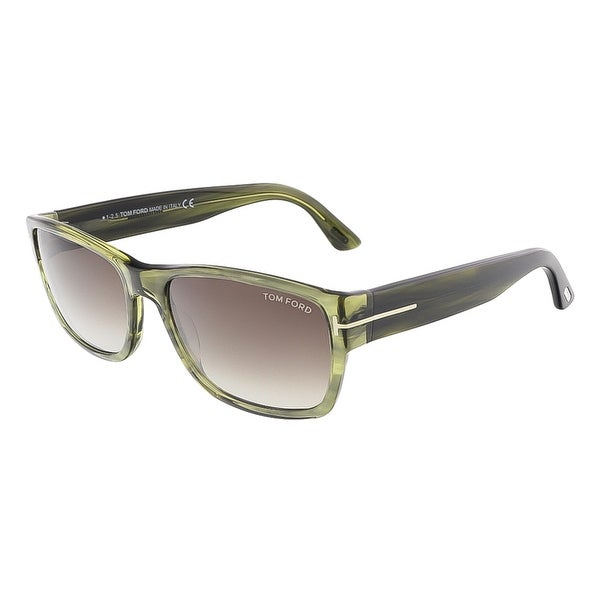 Tom Ford FT0445/S 95K MASON Clear Green Rectangular sunglasses - clear green