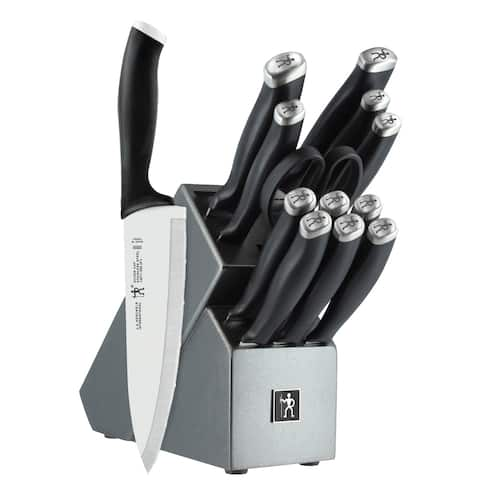 J.A. Henckels International Silvercap 14-pc Knife Block Set - Black/Stainless Steel