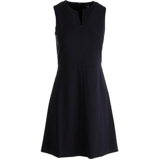 Theory Womens Miyani Wool Sleeveless Wear to Work Dress