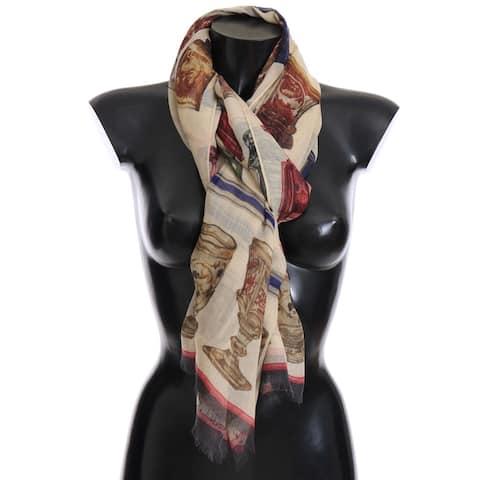 Dolce & Gabbana Multicolor Silk Cashmere Women's Scarf - One Size