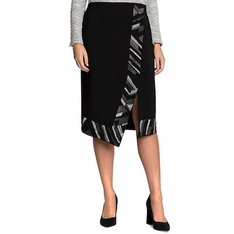 Nic+Zoe Trimmed Time Skirt