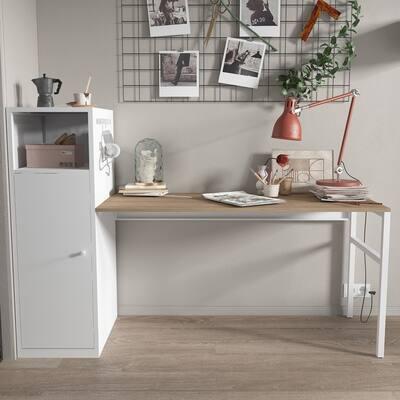 AOOLIVE Work station/Home Office Desk Set,White color