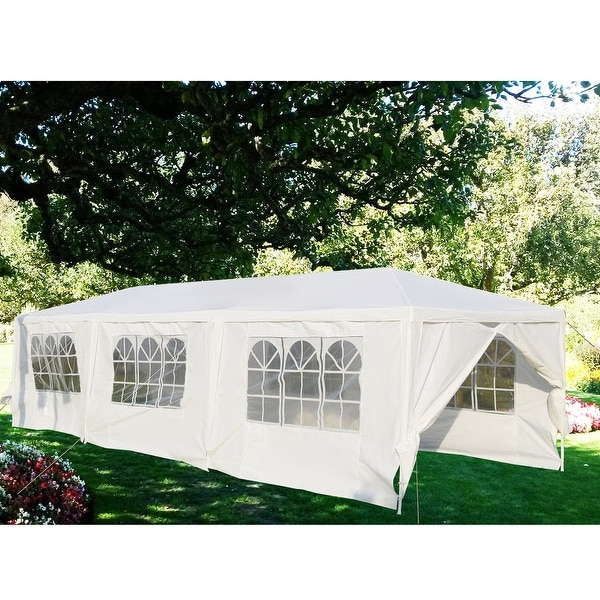 Wedding With White Tent: Shop Gymax White Wedding Tent 10'x30'Outdoor Party Canopy